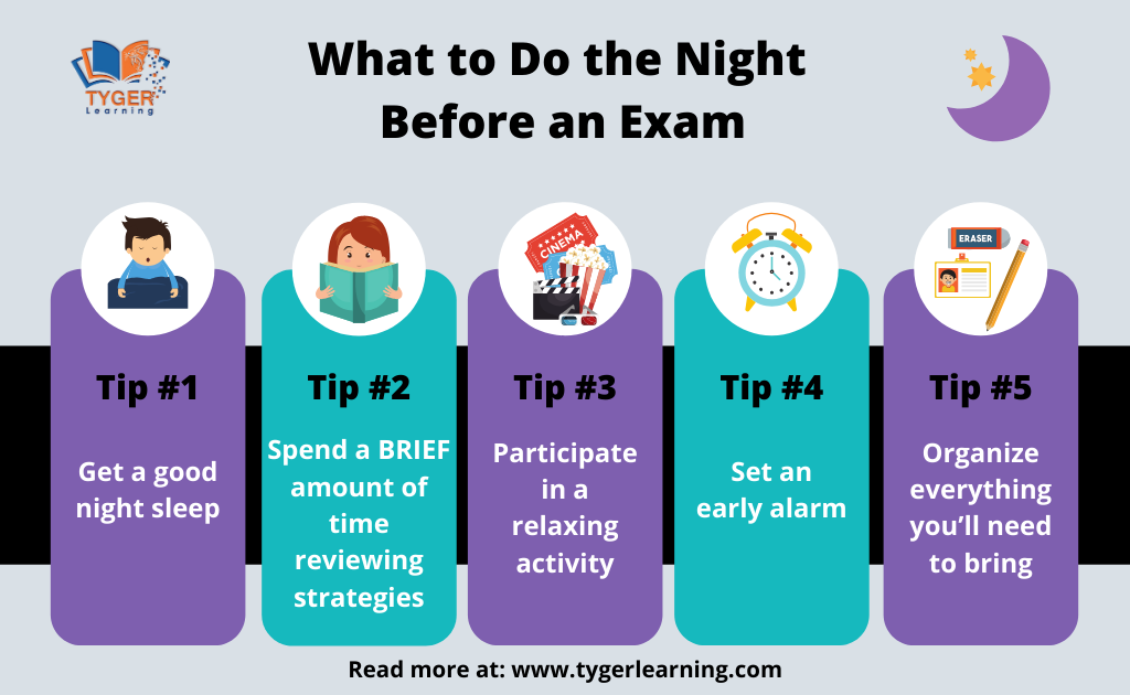 What to Do the Night Before an Exam