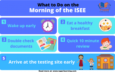 What to Do on the Morning of the ISEE