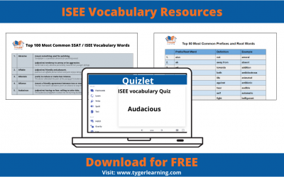 ISEE Vocabulary Resources