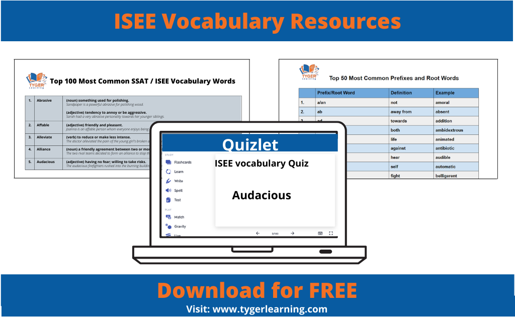 ISEE Vocabulary Resources | Tyger Learning